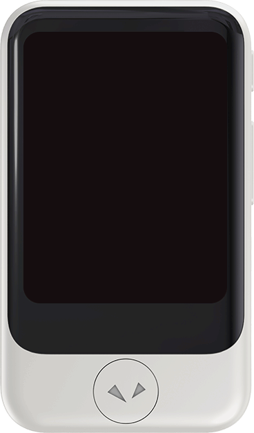 Pocketalk Device facing front.